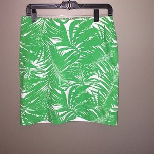 Talbots size 6P vacation print skirt